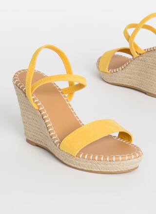 Vacation Vibes Espadrille Wedges