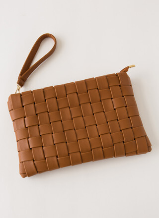 Chic For Yourself Woven Clutch
