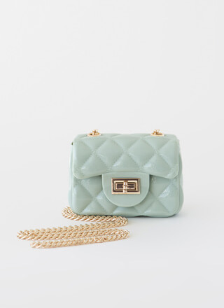 Mini Me Tiny Faux Quilted Jelly Purse