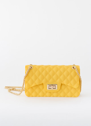 New Classic Faux Quilted Jelly Purse