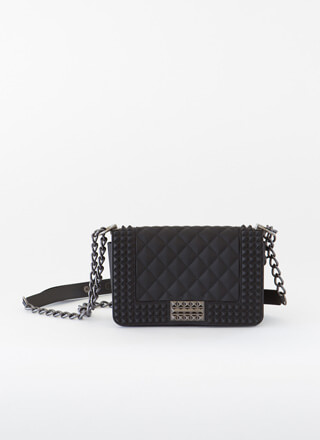 Gettin' Edgy Studded Matte Jelly Purse