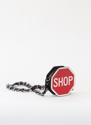 Stop And Shop Chain Strap Purse