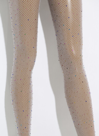 Glamazon Jeweled Fishnet Stockings