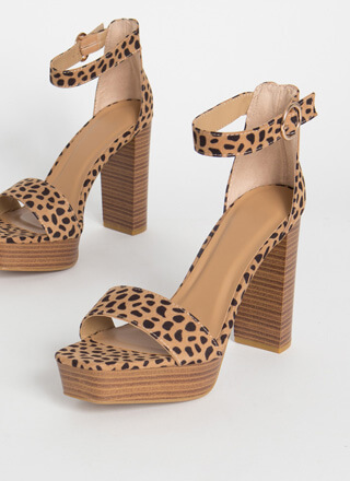 The Year Of The Cheetah Platform Heels