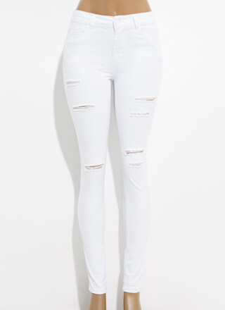 Slits Gonna Be Okay Distressed Jeggings