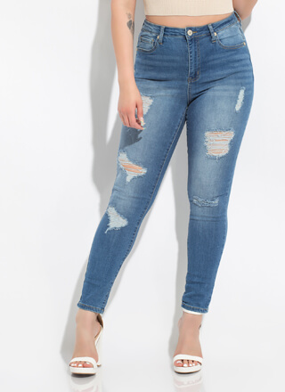The Everyday Distressed Skinny Jeans
