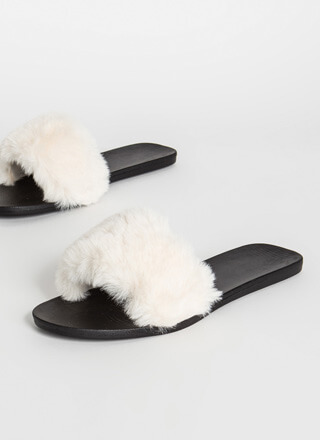 Fur-Ever Yours Faux Fur Slide Sandals