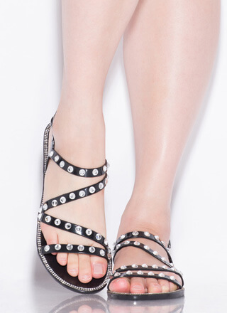 Crystal Ball Jeweled Jelly Sandals