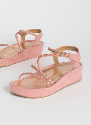 Strap Happy Jeweled Wedge Sandals