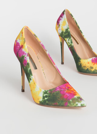Point It Out Tie-Dye Stiletto Pumps