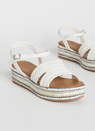 Vacation-Ready Woven Platform Sandals