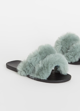Better Furry Up Plush Slide Sandals