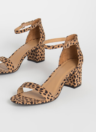 Up My Alley Cheetah Block Heels