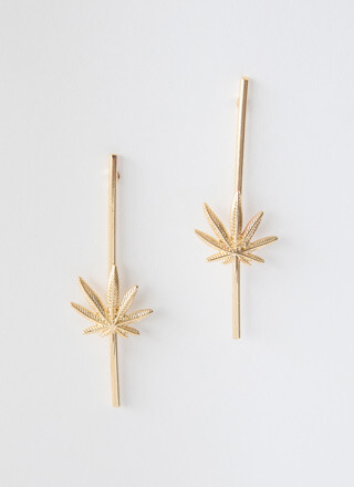 Mary Jane Just Spoke Leaf Charm Earrings