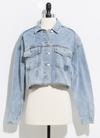 Denim Perfection Cut-Off Jean Jacket