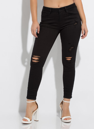 Jegging Partner Distressed Skinny Jeans
