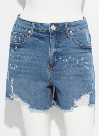 Bleach Bunny Destroyed Denim Shorts