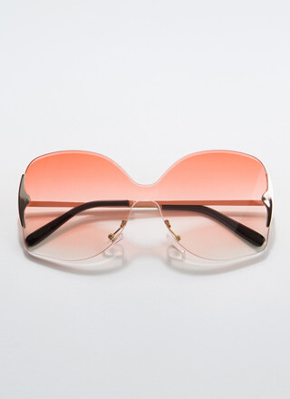 Free As A Butterfly Frameless Sunglasses