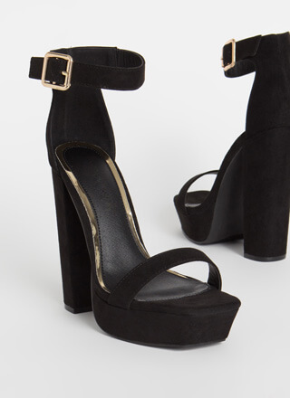 Tall Girl Chunky Faux Suede Platforms