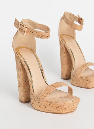 Tall Girl Chunky Cork Platforms