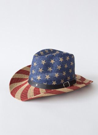American Cowgirl Woven Flag Cowboy Hat