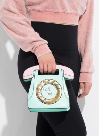 Call Me Rotary Phone Handbag
