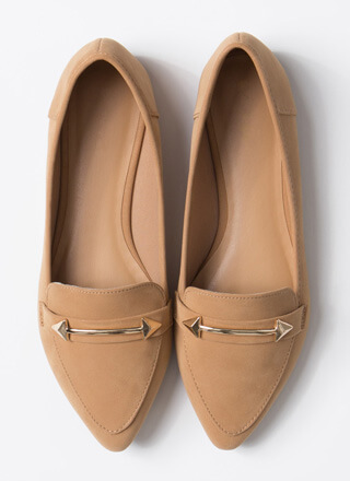 Both Ways Arrow Accent Smoking Flats