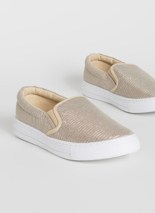 Sparkly Personality Slip-On Sneakers