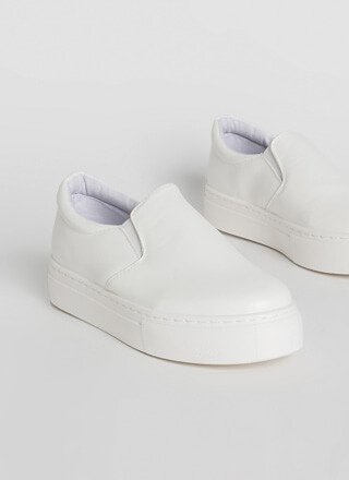 New Platform Faux Leather Sneakers