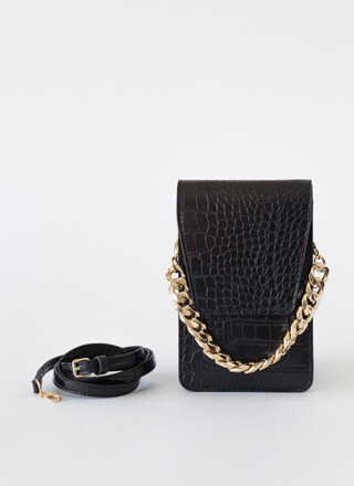In A While Crocodile Wallet Clutch