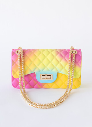Funkytown Quilted Ombre Jelly Purse
