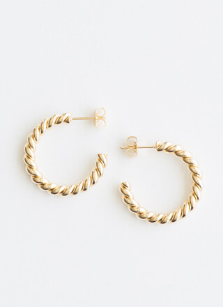 Get It Twisted Partial Hoop Earrings