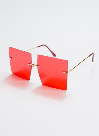 Hollywood Squares Oversized Sunglasses