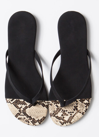 Dip Your Toes In Animal Print Sandals