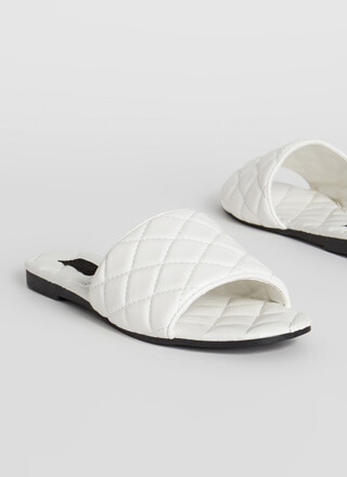 Quilted Me Into It Padded Slide Sandals