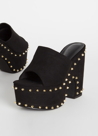 So Groovy Studded Super Chunky Platforms