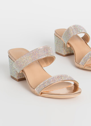 My Time To Shine Jeweled Block Heels