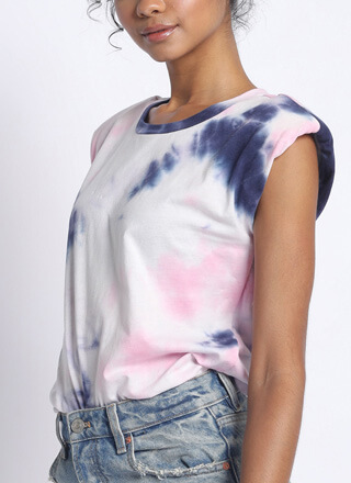 Tie-Dye Dreams Rolled Sleeve Tank Top