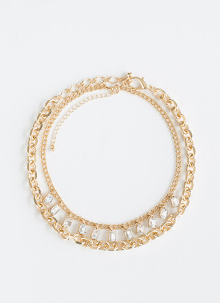 Layer It On Me Jeweled Chain Choker Duo