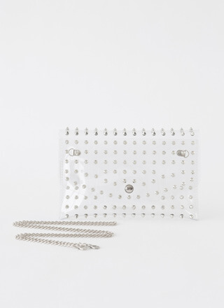 Stay Clear Spiky Studded Envelope Clutch