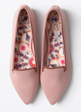The Knit Factor Pointy Smoking Flats