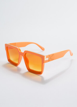 Square By It Thick-Rimmed Sunglasses