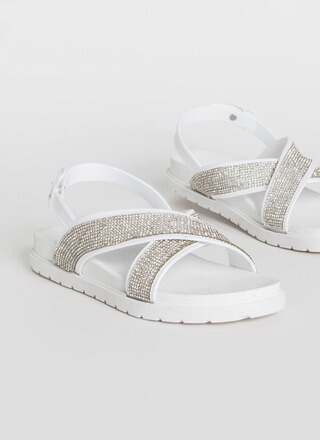 X-tra Sparkle Strappy Jeweled Sandals