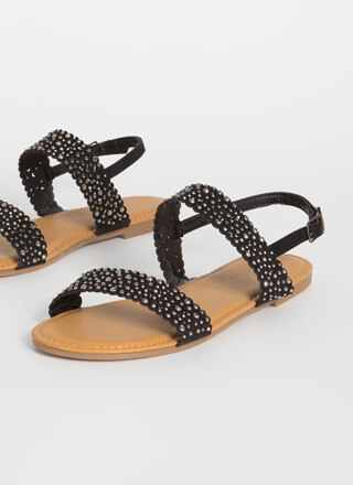 Treasure Hunt Jeweled Scalloped Sandals