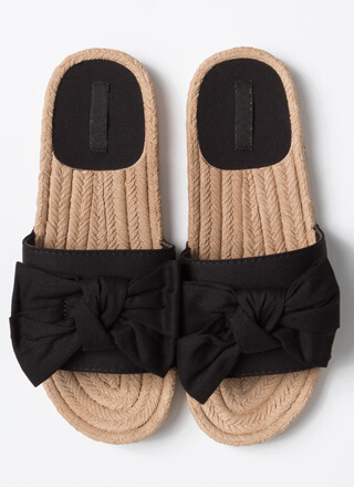 Just Add A Big Bow Slide Sandals