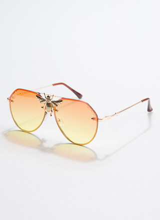 Bee All You Can Bee Aviator Sunglasses