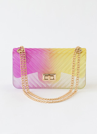 Watch Your 2-Tone Ombre Jelly Handbag