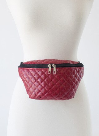 So Ready Quilted Faux Leather Fanny Pack
