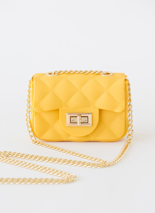Mini Me Faux Quilted PVC Micro Purse