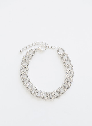 Let's Sparkle Jeweled Chain Bracelet